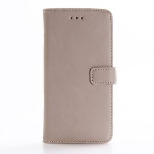 Винтажный чехол портмоне подставка на пластиковой основе на магнитной защелке для Asus ZenFone 3 5.5 Белый