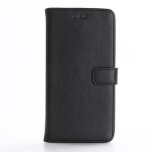 Винтажный чехол портмоне подставка на пластиковой основе на магнитной защелке для Asus ZenFone 3 5.5 Черный