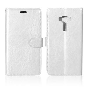Глянцевый чехол портмоне подставка на силиконовой основе на магнитной защелке для Asus ZenFone 3 5.5 Белый
