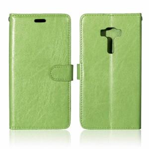 Глянцевый чехол портмоне подставка на силиконовой основе на магнитной защелке для Asus ZenFone 3 5.5 Зеленый