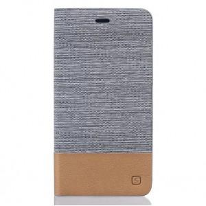 Чехол горизонтальная книжка подставка текстура Линии на силиконовой основе с тканевым покрытием и отсеком для карт для Asus ZenFone 3 5.5