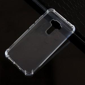 Силиконовый матовый полупрозрачный чехол с усиленными углами для Asus ZenFone 3 5.5