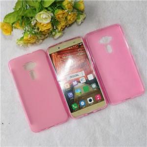 Силиконовый матовый полупрозрачный чехол для Asus ZenFone 3 5.5 Розовый