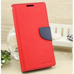 Чехол портмоне подставка на силиконовой основе на дизайнерской магнитной защелке для Asus ZenFone 3 5.5 Красный