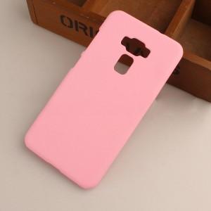 Пластиковый непрозрачный матовый чехол для Asus ZenFone 3 5.5 Розовый