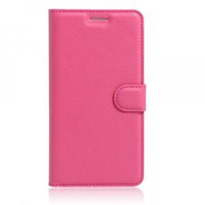 Чехол портмоне подставка на силиконовой основе на магнитной защелке для Asus ZenFone 3 5.5 Пурпурный