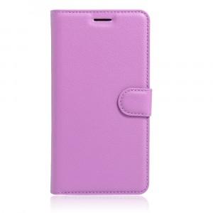 Чехол портмоне подставка на силиконовой основе на магнитной защелке для Asus ZenFone 3 5.5 Фиолетовый