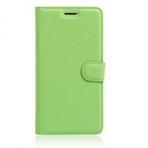Чехол портмоне подставка на силиконовой основе на магнитной защелке для Asus ZenFone 3 5.5 Зеленый