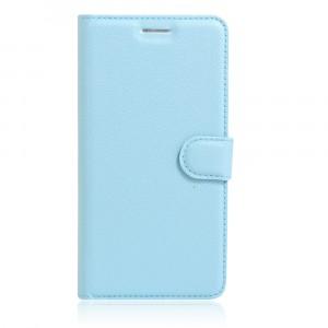 Чехол портмоне подставка на силиконовой основе на магнитной защелке для Asus ZenFone 3 5.5 Голубой