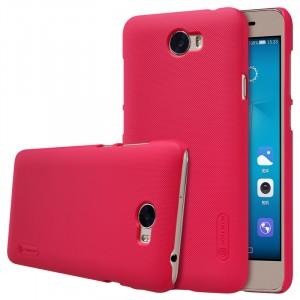 Пластиковый непрозрачный матовый нескользящий премиум чехол для Huawei Honor 5A/Y5 II  Красный