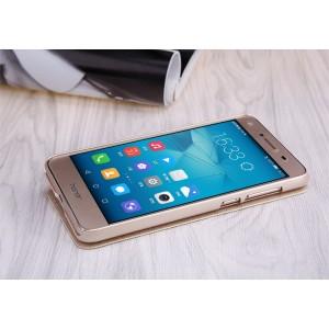 Чехол горизонтальная книжка на пластиковой нескользящей премиум основе для Huawei Honor 5A/Y5 II