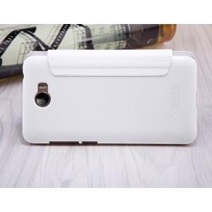 Чехол горизонтальная книжка на пластиковой нескользящей премиум основе для Huawei Honor 5A/Y5 II Белый