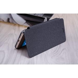Чехол горизонтальная книжка на пластиковой нескользящей премиум основе для Huawei Honor 5A/Y5 II Черный
