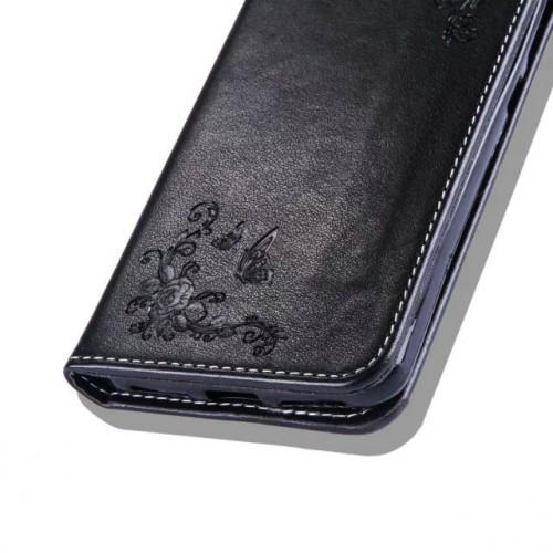 Чехол портмоне подставка текстура Узоры на силиконовой основе для Huawei Honor 5A/Y5 II