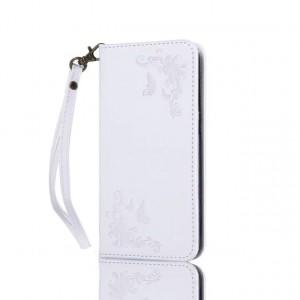 Чехол портмоне подставка текстура Узоры на силиконовой основе для Huawei Honor 5A/Y5 II Белый