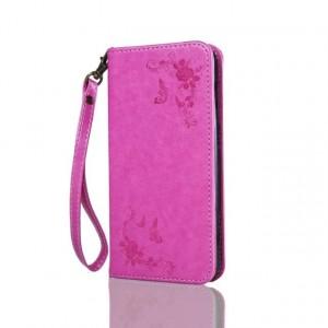 Чехол портмоне подставка текстура Узоры на силиконовой основе для Huawei Honor 5A/Y5 II Пурпурный