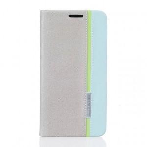 Чехол горизонтальная книжка подставка текстура Линии на силиконовой основе с отсеком для карт для Huawei Honor 5A/Y5 II Белый