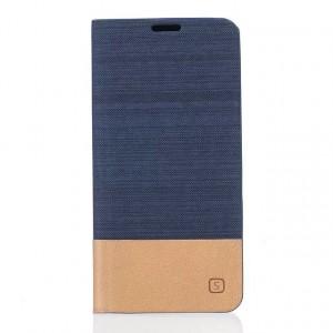 Чехол флип подставка текстура Линии на силиконовой основе с отсеком для карт и тканевым покрытием для Huawei Honor 5A/Y5 II  Синий