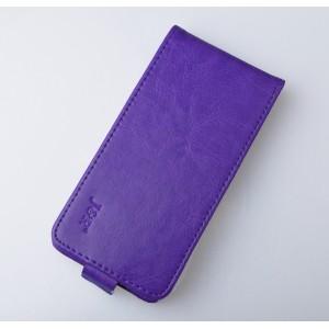 Глянцевый чехол вертикальная книжка на пластиковой основе на магнитной защелке для Huawei Honor 5A/Y5 II Фиолетовый