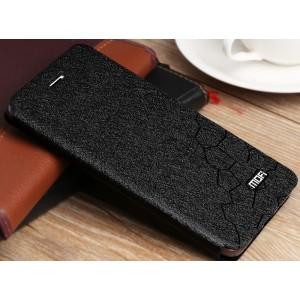 Чехол горизонтальная книжка подставка текстура Соты на силиконовой основе для Huawei Honor 5A/Y5 II Черный