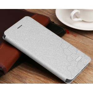Чехол горизонтальная книжка подставка текстура Соты на силиконовой основе для Huawei Honor 5A/Y5 II Белый