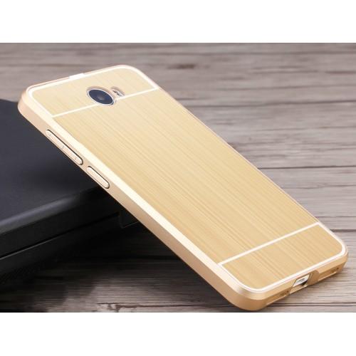 Двухкомпонентный чехол c металлическим бампером с поликарбонатной накладкой и текстурным покрытием Металл для Huawei Honor 5A/Y5 II