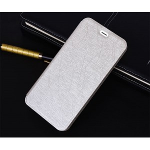 Чехол горизонтальная книжка подставка текстура Линии на силиконовой основе для Huawei Honor 5A/Y5 II Белый