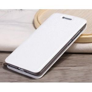 Чехол горизонтальная книжка подставка на силиконовой основе текстура Золото для Huawei Honor 5A/Y5 II Белый