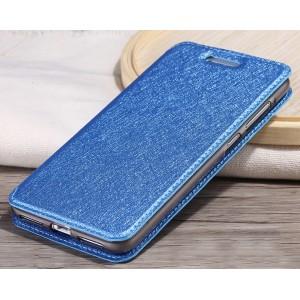 Чехол горизонтальная книжка подставка на силиконовой основе текстура Золото для Huawei Honor 5A/Y5 II Синий