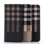 Чехол портмоне подставка текстура Клетка на пластиковой основе для Iphone 7