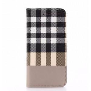 Чехол портмоне подставка текстура Клетка на пластиковой основе для Iphone 7/8