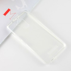 Силиконовый глянцевый полупрозрачный чехол для Asus ZenFone 3 Max  Белый