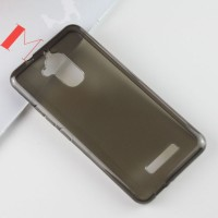 Силиконовый глянцевый полупрозрачный чехол для Asus ZenFone 3 Max  Серый