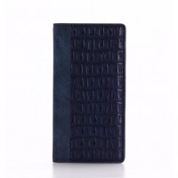 Чехол портмоне подставка текстура Крокодил на пластиковой основе для Iphone 7/8 Синий