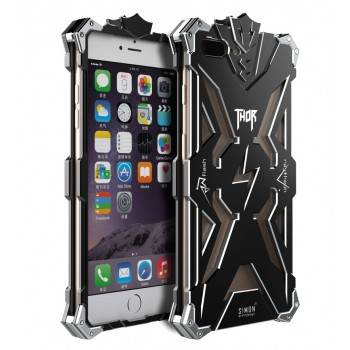 Цельнометаллический противоударный чехол из авиационного алюминия на винтах с мягкой внутренней защитной прослойкой для гаджета с прямым доступом к разъемам для Iphone 7 Plus