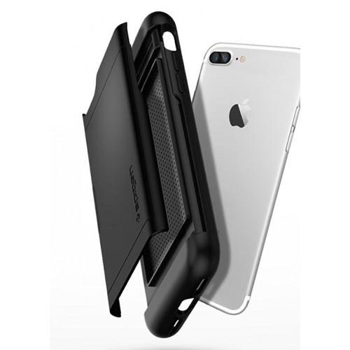 Противоударный двухкомпонентный силиконовый матовый непрозрачный премиум чехол с поликарбонатными вставками экстрим защиты для Iphone 7 Plus/8 Plus