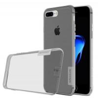 Силиконовый матовый полупрозрачный чехол с улучшенной защитой элементов корпуса (заглушки) для Iphone 7 Plus