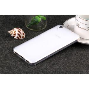 Силиконовый матовый полупрозрачный чехол для Huawei Y6II  Белый