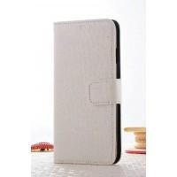 Чехол портмоне подставка текстура Крокодил на пластиковой основе на магнитной защелке для Iphone 7 Plus  Белый
