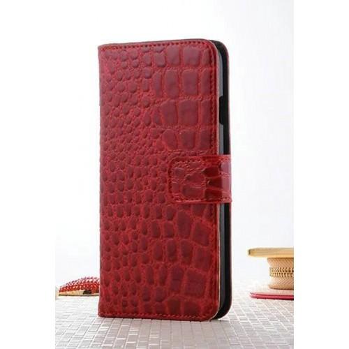 Чехол портмоне подставка текстура Крокодил на пластиковой основе на магнитной защелке для Iphone 7 Plus/8 Plus Белый