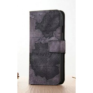Винтажный чехол портмоне подставка на пластиковой основе с полноповерхностным принтом на магнитной защелке для Iphone 7 Plus/8 Plus Черный