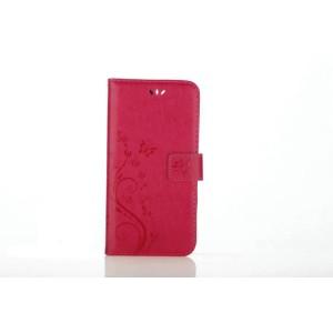 Чехол портмоне подставка текстура Узоры на силиконовой основе на магнитной защелке для Iphone 7 Plus/8 Plus Красный