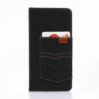 Чехол портмоне подставка на силиконовой основе с тканевым покрытием и отсеком для карт для Iphone 7 Plus
