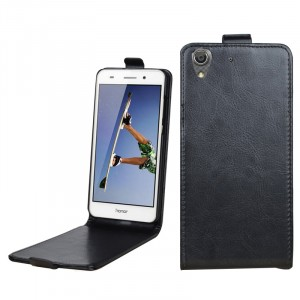 Глянцевый чехол вертикальная книжка на пластиковой основе на магнитной защелке для Huawei Y6II