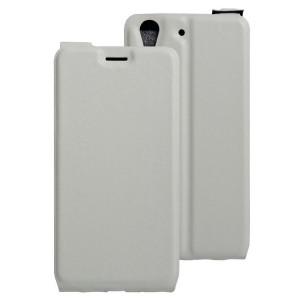Винтажный чехол вертикальная книжка на силиконовой основе с отсеком для карт на магнитной защелке для Huawei Y6II  Белый