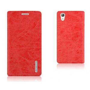 Винтажный чехол горизонтальная книжка подставка на силиконовой основе на присосках для Huawei Y6II