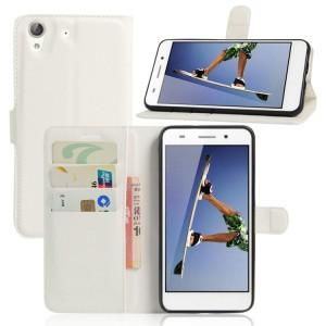 Чехол портмоне подставка на силиконовой основе на магнитной защелке для Huawei Y6II
