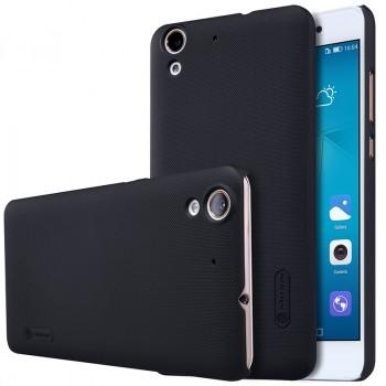 Пластиковый непрозрачный матовый нескользящий премиум чехол для Huawei Y6II