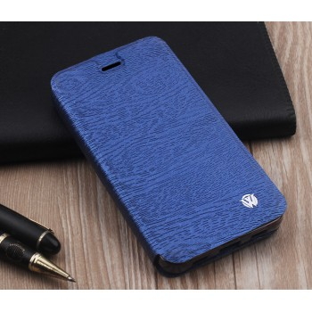 Чехол горизонтальная книжка подставка текстура Дерево на силиконовой основе для Huawei Y6II
