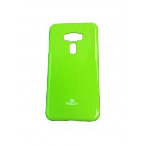 Силиконовый глянцевый непрозрачный чехол для Asus ZenFone 3 5.5 Зеленый